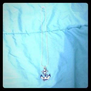 Jewelry - Blue and white anchor necklace